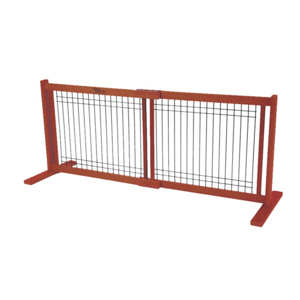 Dynamic Accents Small Kensington 20-inch Wood/Wire Free Standing Pet Gate