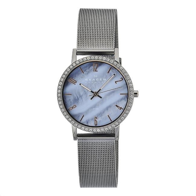 Skagen Women's Blue Mother of Pearl Dial Watch