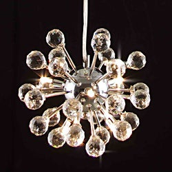 Modern Crystal 6-light Fixture Chandelier