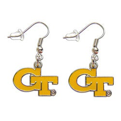 Georgia Tech Yellow Jackets Dangle Hoop Logo Earring Charm Set