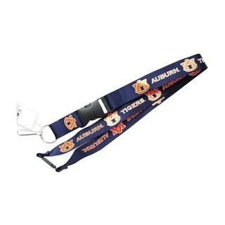 Auburn Tigers Navy Clip Lanyard / Keychain ID Holder