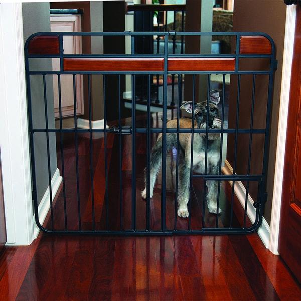 Carlson Expandable Design Studio Extra Tall Wood Metal Gate