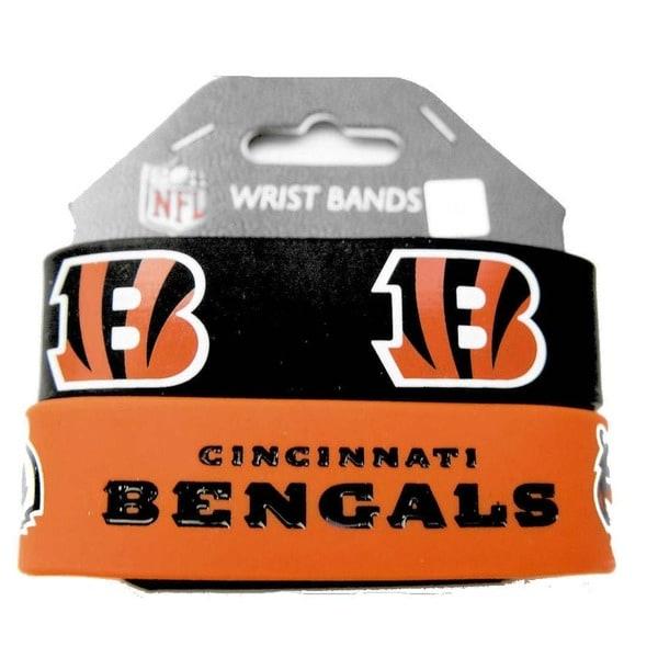 Cincinnati Bengals Rubber Wrist Band (Set of 2)