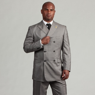 Phat Farm Men's Double Breasted Suit With Vest