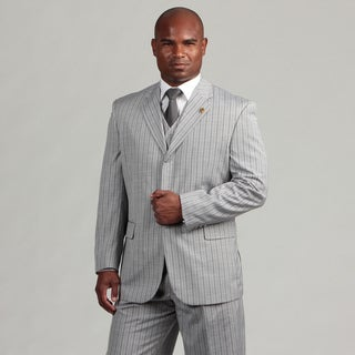 Phat Farm Men's 3-piece Grey Stripe Suit