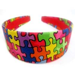 Crawford Corner Shop Colorful Puzzle Print Headband
