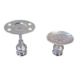 Moen Decorator Platinum / Chrome Pedestal Bath Accessory 2-piece Set