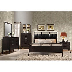 Wenge Boardwalk Queen Bed with Headboard and Footboard