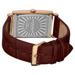 Akribos XXIV Men's Rectangular Stainless Steel Diamond Strap Watch