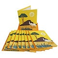 Set of 10 Elephant Dung Yellow Paper Greeting Cards (Sri Lanka)