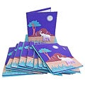 Set of 10 Elephant Dung Purple Paper Greeting Cards (Sri Lanka)