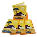 Set of 4 Elephant Dung Yellow Paper Greeting Cards (Sri Lanka)