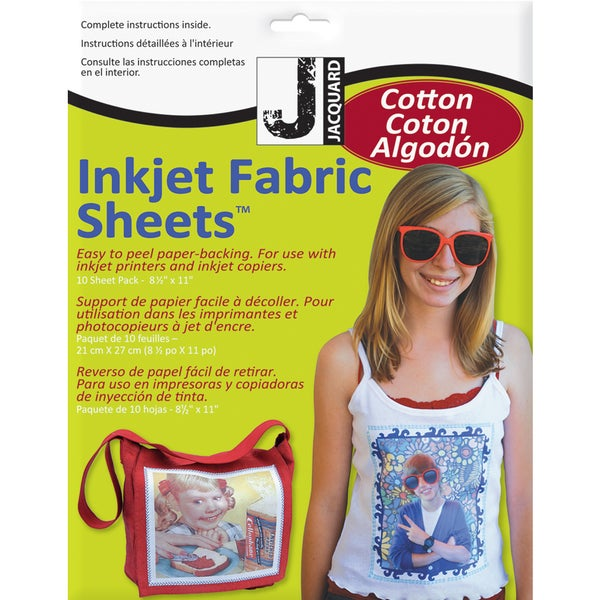 "Inkjet Fabric Sheets-8-1/2""X11"" 10/Pkg"