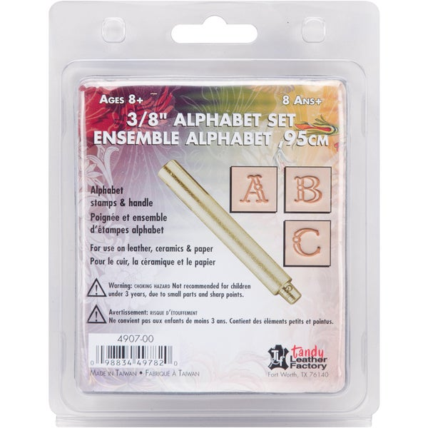 "Easy-To-Do Series Stamp Set-Fancy Alphabet 3/8"""