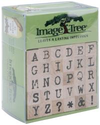 Image Tree Handle Rubber Stamp Set-Antique Typewriter Alphabet/Upper