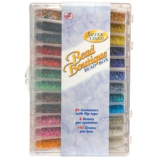 Bead Boutique Bead Box-Multi Color Silver Lined Seed Beads