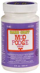 Plaid Mod Podge Satin Hard Coat Water-based Non-toxic 8-ounce Adhesive