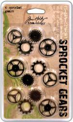 Idea-Ology Sprocket Gears-12/Pkg - 4ea Antique Nickel/Brass/Copper