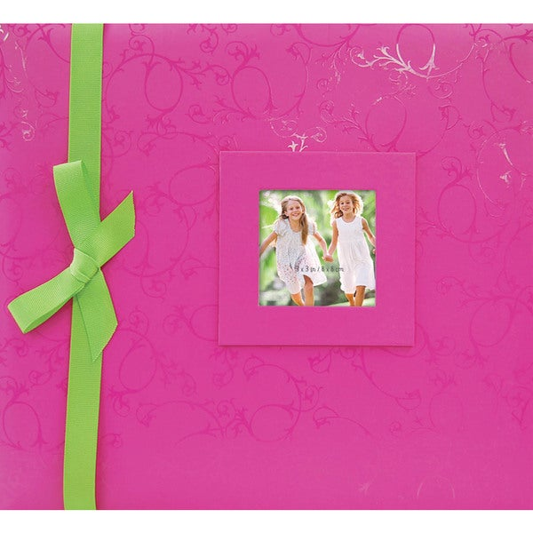 "Embossed Postbound Album 12""X12""-Pink"