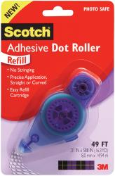 "Scotch Adhesive Dot Roller Refill-.31""X49ft"