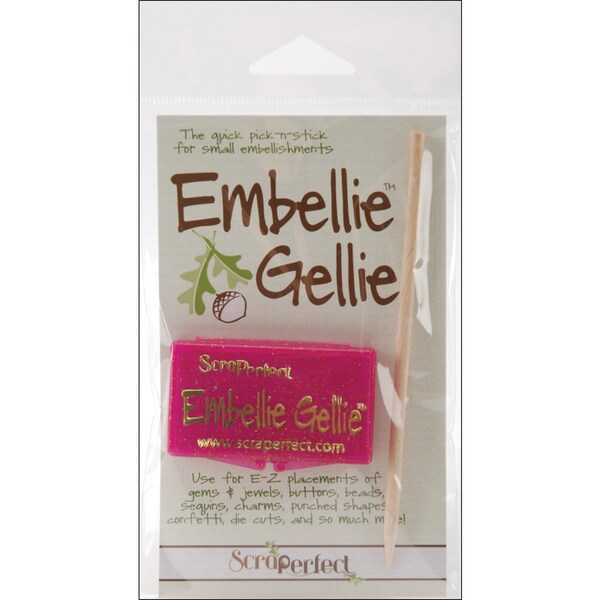 Scraperfect Embellie Gellie Plastic Container and Wooden Wand Tool
