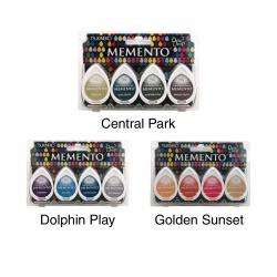 Memento Dew Drop Dye Inkpads 4/Pkg