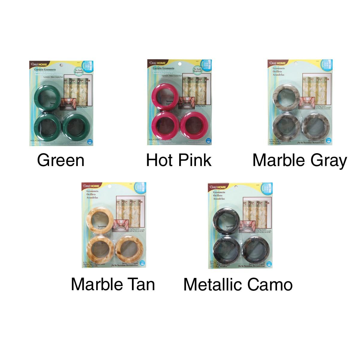 DRITZ-Curtain Grommets 1-9/16in Inner Diameter Plastic 8/Pkg