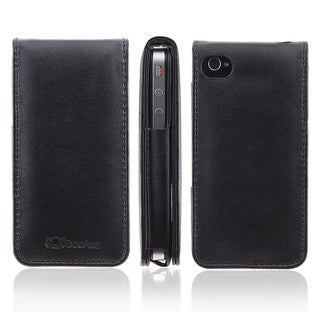 BasAcc Black Leather Case for Apple� iPhone 4/ 4S