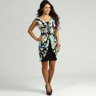 London Times Women's Jersey Floral Print Dress