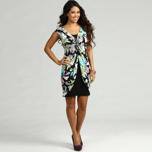 London Times Women's Jersey Floral Print Dress