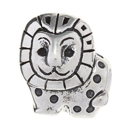 Sterling Silver Lion Charm Bead