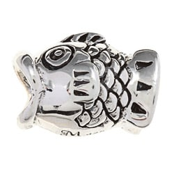 Sterling Silver Coy Fish Charm Bead
