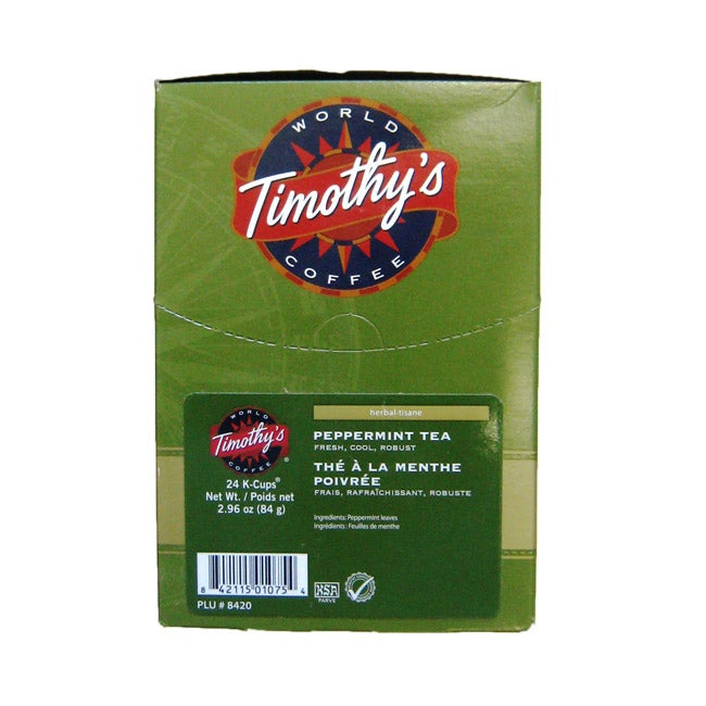 Timothy's World Coffee Peppermint Tea K-Cup for Keurig Brewers at Sears.com