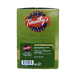 Timothy's World Coffee Peppermint Tea K-Cup for Keurig Brewers