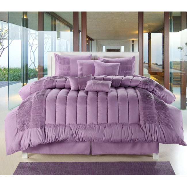 Sevilla Purple 12-piece Bed in a Bag with Sheet Set