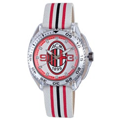Chronotech Children's White/ Red/ Black Canvas Watch