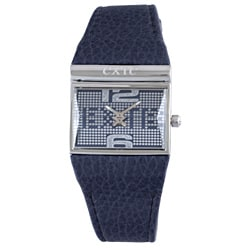 Exte Women's Blue Leather Watch