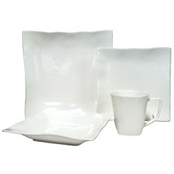 Red Vanilla Wave 16-Piece Dinner Set
