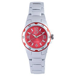 Chronotech Women's Red and Silver Aluminum Watch