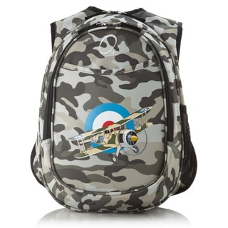 Obersee Kids Pre-School All-In-One Camo Airplane Backpack with Cooler