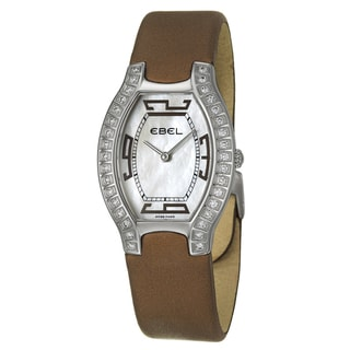 Ebel Women's 'Beluga Tonneau' Stainless Steel Watch