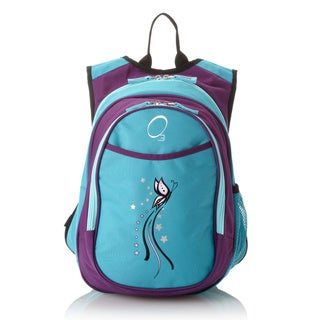 Obersee Kids Pre-School All-In-One Turquoise Butterfly Backpack With Cooler