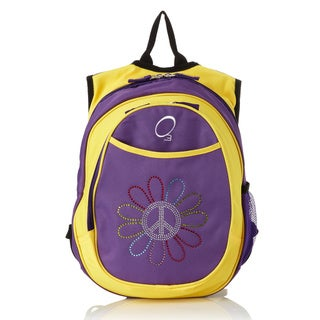Obersee Kids Pre-School All-In-One Peace Flower Backpack With Cooler
