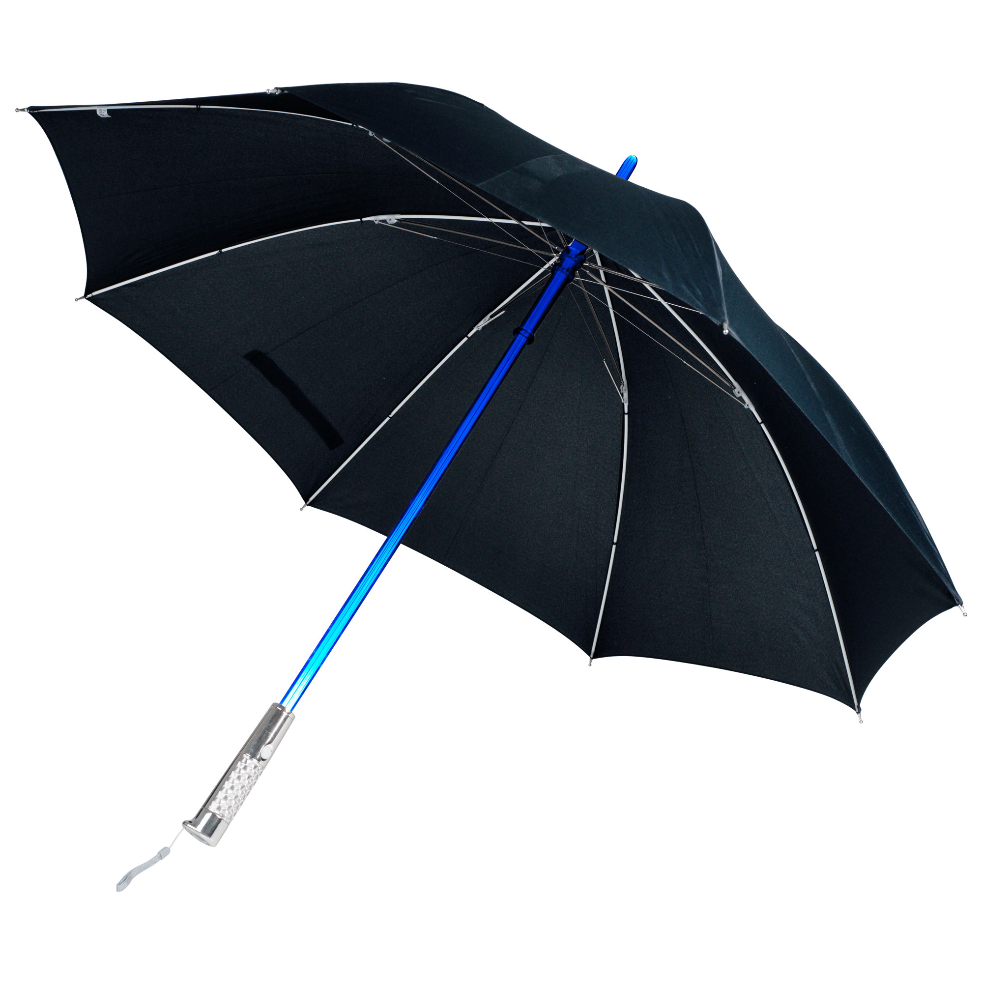 TG Unisex Black Nylon Color Changing LED Umbrella/Flashlight