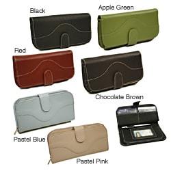 Piel Leather Women's Large Clutch Wallet