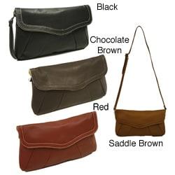 Piel Leather Women's Rainbow Clutch Purse