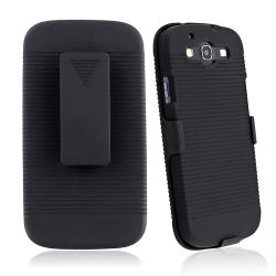 Black Holster with Stand for Samsung Galaxy S III i9300