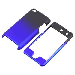 Black to Blue Rubber Coated Case for Apple iPod Touch Generation 4