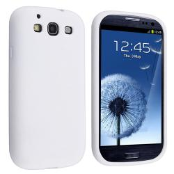 White Silicone Skin Case with Stand for Samsung Galaxy S III i9300