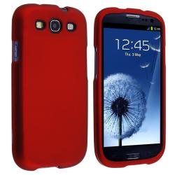Red Snap-on Rubber Coated Case for Samsung Galaxy S III i9300